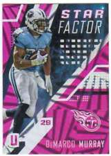 2017 Panini Unparalleled Star Factor Pink /99 #23 DeMarco Murray Titans