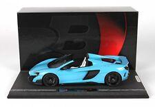 BBR McLaren 675LT Spider Baby Blue 1:18 LE 20pcs*Rare Color!*HARD TO FIND ITEM!