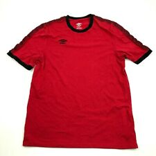 Umbro Red T shirt Size L large Athletic Fit Short Sleeve Red Tee Active Wear Top