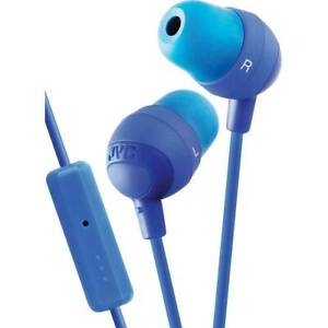 JVC HAFR37 Marshmallow Inner-Ear Earbuds with Remote & Mic 1.2M BRAND NEW