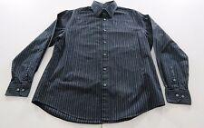 AXIST (L) Black Long Sleeve Modern Fit Men's Casual Dress Shirt 100% Cotton