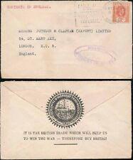 Mauricio 1941 censurado envolvente Colonial + Ultramar Cameo Barco Patriótico Comercio
