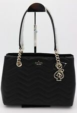 NWT Kate Spade New York Reese Park Black Quilted Leather Courtnee Shoulder Bag