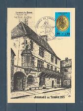 carte  1er jour  journée du timbre  plaque de facteur  70 Luxeuil les Bains 1975