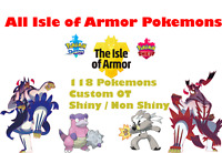 ✨Pokemon Sword and Shield All NEW Isle of Armor - DLC Pokemon Home✨