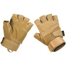 MFH Protect Tactical Fingerless Gloves Mens Trekking Outdoor Hauntlet Coyote Tan