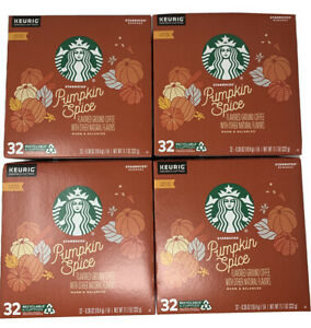 STARBUCKS Pumpkin Spice Coffee K-Cups 128 count Best By May 2020