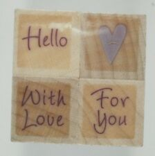 Tiny Heart Wishes Wood Mounted Rubber Stamp Set, Hero Arts, LL852, Ladybug