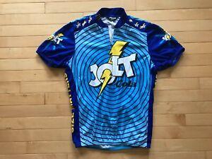 VTG Men's Jolt Cola Size Matters Pearl Izumi Bike Cycling Jersey Sz M 80s