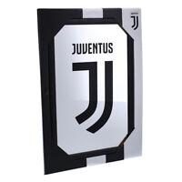 Juventus Specchio con Logo Cornice Nera Originale Seven AI19