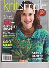 KNITSIMPLE MAGAZINE HOLIDAY 2013, 60+ GIFT IDEAS.