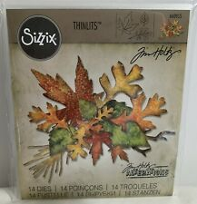 Tim Holtz Alterations FALL FOLIAGE Autumn Leaves Oak Maple Thinlits Dies