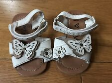 Next Girls Sandals UK Infant 4 - Next Baby Butterfly Sandal Shoes