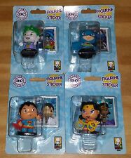 Little Mates Mini Batman Figures Sticker Joker Wonder Woman Superman Set of 4