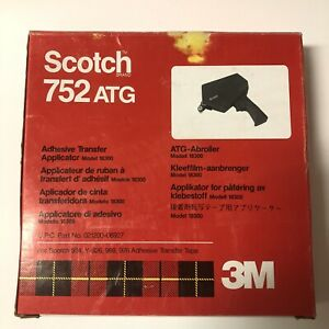 Scotch ATG 752 Adhesive Transfer Applicator Model 18300, Blue Plastic