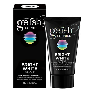 Gelish PolyGel Nail Enhancement Bright White 2oz For Sale!