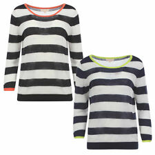 Crew Neck Striped Regular Size Jumpers & Cardigans for Women