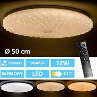 LED Deckenlampe Dimmbar Deckenleuchte Wohnzimmer Lampe mit Fernbedienung Acryl