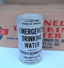 VTG 1960s U.S.Coast Guard Emergency Life 10 ½ Oz canned Drinking Water Baltimore