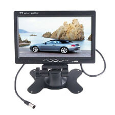 "7"" TFT LCD Color 2 Video Input Car Rear View Headrest Monitor DVD VCR Monit Q3M7"