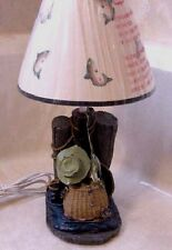 Gone Fishing Theme Desk Lamp Light Perfect Gift for the Fisherman In The House
