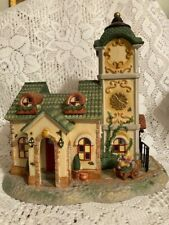 PartyLite Olde World Village #4 Clock Tower Tealight House P7887