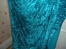 5 MTR  NEW QUALITY TURQUOISE ICE CRUSH VELVET FABRIC..58 INCHES WIDE
