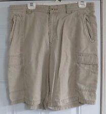 Tommy Bahama Men's Shorts size 34 Linen Cotton Blend TR808 Beige Casual Cargo