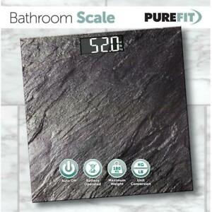 Stone Slate Effect Bathroom Scale Large Display Kg/Lb/Stones Weighing Scales