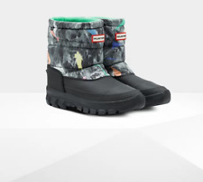 HUNTER Women's Original Insulated Short Snow Boots: Storm Camo Print UK5 / EU38