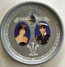 Royal Wedding 1981 Commemorative Tray. Prince Charles Princess Diana Of Wales.