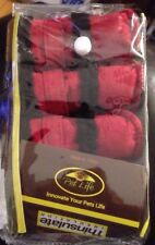 Pet Life Paw Wear Thinsulate Dog Black & Red Shoes Boots Size 2-XS
