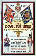 Vintage Royal Fusiliers British Army Recruitment Poster  A3 Print