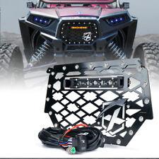 "Xprite Steel Mesh Grille w/ 8"" LED Light Bar for 14-18 Polaris RZR 900 S 1000 XP"