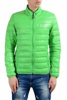 Emporio Armani EA7 Men's Green Duck Down Full Zip Light Parka Jacket