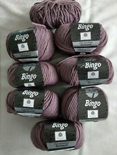 Lana Grossa Bingo Wollpaket 350g + 30g ,Farbe 142 , rosenholz