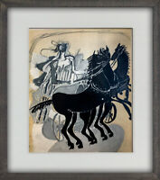Georges Braque LIMITED Edition LITHOGRAPH 1955 w/ Archival Frame