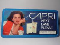 VINTAGE 1990 WOMAN CAPRI CIGARETTES ADVERTISING SIGN STORE DISPLAY NEXT LANE VTG