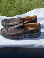 SPERRY TOP SIDER GOLD CUP MEMORY FOAM DEERSKIN MENS LOAFERS BROWN SIZE 10
