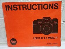 Rare! Leica Leitz R4s Mod. P Film Camera Instruction Manual Book 111-193 English