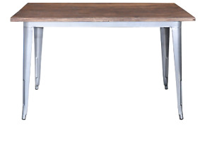 Replica Tolix Dining Table 120 x 60 x 75cm, Wood Top – 3 Colour Choices for base