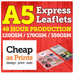 A5 Leaflets & Flyer Colour Printing   100, 250, 500, 1000, 2500, 5000 from £14