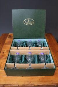 Royal Doulton Cut Crystal Glasses JULIA Sherry Liqueur Wine Set 6 Boxed BNIB