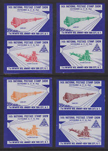 US MNH. 1962 ASDA Labels, imperf vertical Space pairs, VF