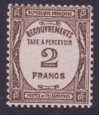 "FRANCE TAXE 62 ""2 F SEPIA"" NEUF xx TTB,VALEUR: 335€"