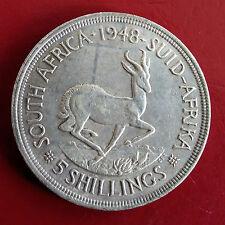 Sudáfrica 1948 Jorge VI Springbok 5 chelines Corona De Plata