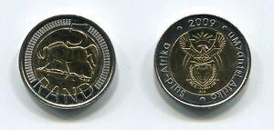 South Africa 2009 Uncirculated R5 Bi-metallic Coin SARB Umzantsi Afrika