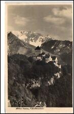 Liechtenstein alte Postkarte 1935 gelaufen Blick auf Schloß Vaduz