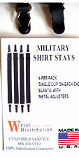 4 Straight Shirt Stay Garters Executive- Military - Police - Made in the U.S.A.!