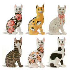 6 Wemyss Ware Cats Die-cut Blank Greetings Cards